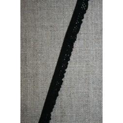 Kantelastik med flæsekant, sort-20