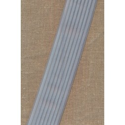 Elastik til bælter 60 mm. lys sølv-grå-20