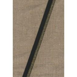 Foldeelastik med lurex sort guld 17 mm.-20
