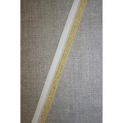 Foldeelastik m/lurex, hvid/guld-20
