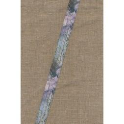 Foldeelastik med mønster og tekst, blå lilla-20