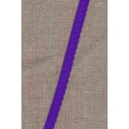 Foldeelastik med buet kant og prik, lilla-20