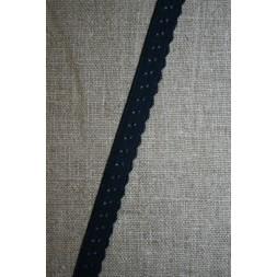 Foldeelastik med buet kant/prik, mørkeblå-20