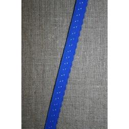 Foldeelastik med buet kant og prik, kobolt blå-20