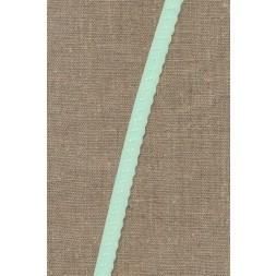 Foldeelastik med buet kant og prik, mint-20