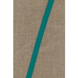 Foldeelastik med buet kant og prik, irgrøn-20