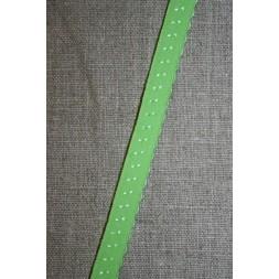 Foldeelastik med buet kant/prik, lime-20