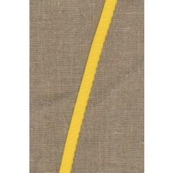 Foldeelastik med buet kant og prik, gul-20