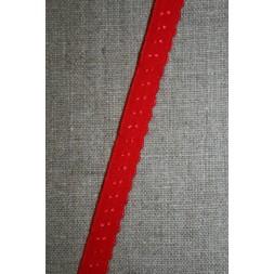 Foldeelastik med buet kant og prik, rød-20