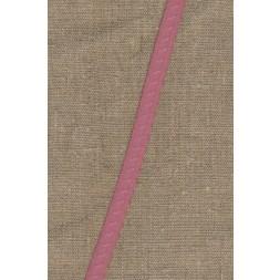 Foldeelastik med buet kant og prik, gammel rosa-20