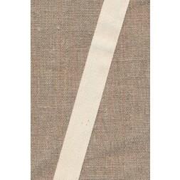 Gjordbånd/bændel sildebensvævet i off-white 19 mm.-20