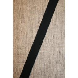 Bomuldsbånd/Gjordbånd sort, 20 mm.-20