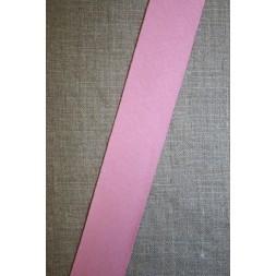 Kantbånd skråbånd i jersey, lyserød-20