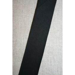 Kantbånd skråbånd i jersey, sort-20