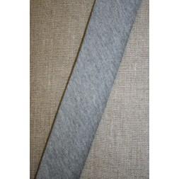 Kantbånd skråbånd i jersey, lys grå-meleret-20