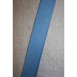 Kantbånd skråbånd i jersey, denim blå-20