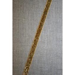 Velourbånd med glimmer-lurex, guld-20