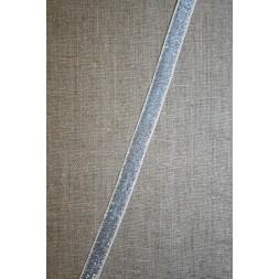 Velourbånd med glimmer-lurex, sølv-20