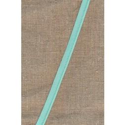 Paspoil-/piping bånd i bomuld, lys aqua-20