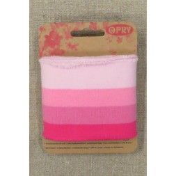 Ribkant stribet i lyserød og pink 65 mm x 100 cm.-20
