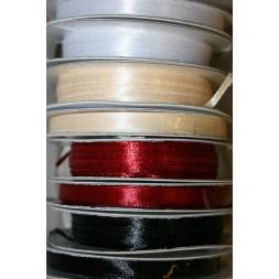 10 meter rulle satinbånd 3 mm. hvid sort mørkerød off-white-20