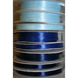10 meter rulle satinbånd 6mm. babylyseblå klar blå mørkeblå-20