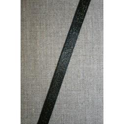 Blankt bånd sort med guld-nister, 10 mm.-20