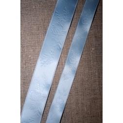 Satinbånd m/roser babylyseblå 16+25 mm.-20