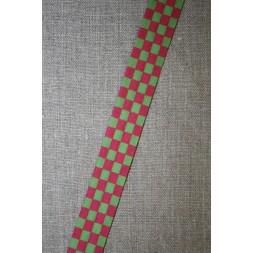 Skråbånd mål-flags-tern, pink/lime-20