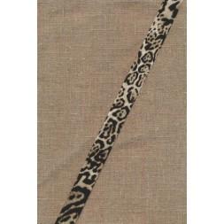 Skråbånd med dyreprint leopard i sand og sort-20