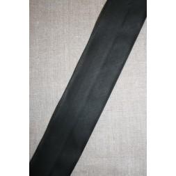 Bred bomulds-skråbånd 60 mm. sort-20