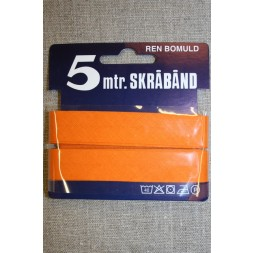 5 meter bomulds-skråbånd, lys orange-20