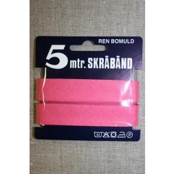 5 meter bomulds-skråbånd, lys pink-20