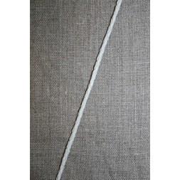 Imiteret flettet lædersnøre 3 mm. hvid-20