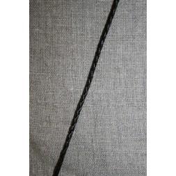 Imiteret flettet lædersnøre 3 mm. mørkebrun-20