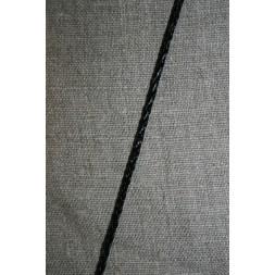 Imiteret flettet lædersnørre 3 mm. sort-20