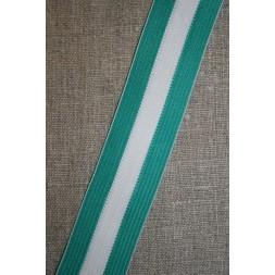 Sportsbånd stribet irgrøn-hvid-20