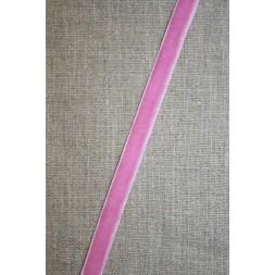 Velourbånd lyserød/pink 9 mm.-20