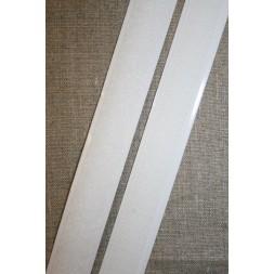 20 mm. velcro med lim selvklæbende, hvid-20