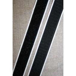 Rest 20 mm. velcro med lim selvklæbende, sort loop 95 cm.-20