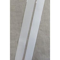 25 mm. velcro med lim selvklæbende, hvid-20