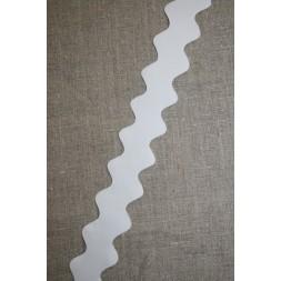 Zig-zag bånd 32 mm. hvid-20