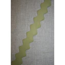 Zig-zag bånd 32 mm. oliven-20