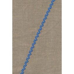 Zig-zag bånd ternet blå-20
