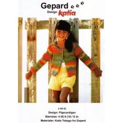 Gepard mønster Pige cardigan-20