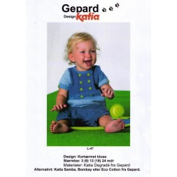 Gepard mønster Baby kortærmet bluse i Degradé-20