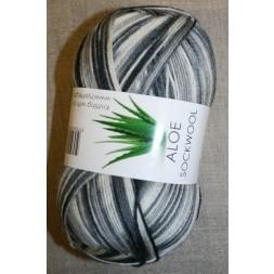 Aloe strømpegarn print grå-hvid-koksgrå-20