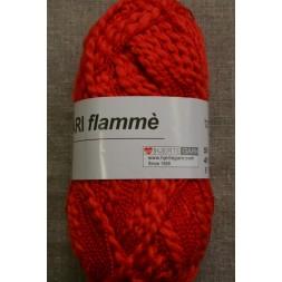 Bomuldsgarn Bari Flammé, koral-rød-20
