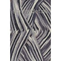 Basic uld/polyamid flerfarvet i grå, sort og hvid-20