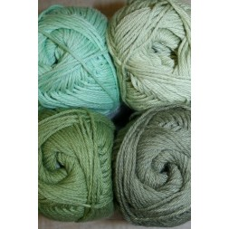 Blend Hjerte Bomuld/acryl garn grøn-army-20
